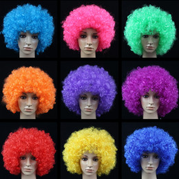 $enCountryForm.capitalKeyWord NZ - Performance dress up wigs props fans set the head of the explosion to blame the head set clown wig color