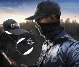 $enCountryForm.capitalKeyWord Canada - 2017 Game Watch Dogs 2 WD2 Marcus Holloway Aiden Pearce Cosplay Unisex Black Face Mask Dedsec Hat Cap Party Halloween