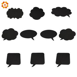 $enCountryForm.capitalKeyWord UK - 100PCS Set New Fashion DIY Black Paper Board+Chalk Photo Booth Props For Home Garden Wedding Party &Propose Marriage Decoration