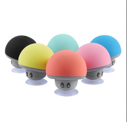 Chinese  2016 Brand New Cool Gadgets Colorful Mini Bluetooth Speaker Mushroom Speaker 3.0 With Mic And Suction Cup For Mobile Phone IP6S Wholesale manufacturers
