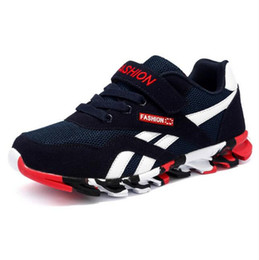 Brand Boys Shoes UK - Spring Autumn Children Shoes Boys Sneakers Fashion Girls Sports Shoes Brand Casual Shoes Breathable Kids Running Sneakers