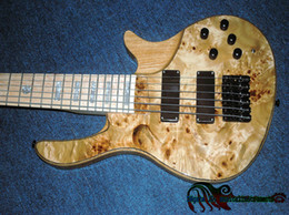 Fingerboard Wooden Canada - 6 Strings ONE Piece Neck Electric Bass Wooden New Arrival Maple Fingerboard From China