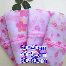 $enCountryForm.capitalKeyWord Canada - Free Ship 20pcs 30*40cm 40*50cm 50*60cm Flower Printed Bra Clothes Laundry bag Washing Machine Nylon Net Mesh Hosiery Lingerie Zipper Bag