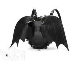 devil love angel 2019 - Personality Three-dimensional Love Black Angel Devil Bat Wings Shoulder Backpack women fashion backpack