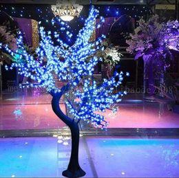 2017 Luz de árbol de flor de cerezo LED 864 unids Bombillas LED 1.8 m Altura 110 / 220VCA Siete colores para la opción Impermeable a prueba de lluvia Uso al aire libre Envío de la gota MYY en venta
