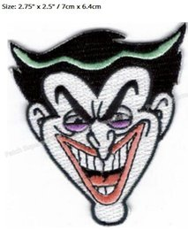 Joker patches online shopping - 2 quot BATMAN THE DARK KNIGHT JOKER SMILE DC Comic LOGO Gift Promo Embroidered Movie TV Series applique stickers iron on patch
