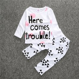 $enCountryForm.capitalKeyWord Canada - 2017 New Baby Girls Boy Clothes Long Sleeve Shirts Pants Newborn Baby Clothes For Baby Girl Suits Spring Infant Girls Clothing