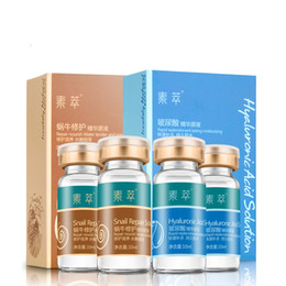 Wholesale 4pcs Hyaluronic Acid Serum Liquid Snail Repair Serum Stoste Rapid Replenishment Long Moisturizing Nourish Tender Face Skin ml