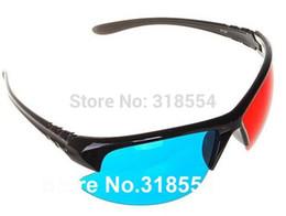$enCountryForm.capitalKeyWord Canada - Free Shipping 200pcs lot Stylish Reuseable Plastic Frame Red Blue Cyan 3D Glasses Half Frame Lens Glass 0001