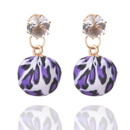 gold pendants leopard 2019 - Unique Design Sambhala Earring 30PRS Women Charm Earrings Rhinestone Leopard Ball Pendant Earrings Women Gift discount g
