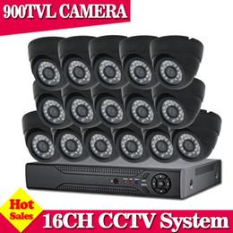 16ch Camera Canada - NINI Video Surveillance System 16Ch AHD 960H HDMI CCTV DVR Kit 900TVL IR Night Indoor Security Cameras System