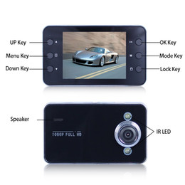 Wholesale Generalplus car DVR 2.4 inch K6000 Full HD LED Night Recorder CAMCORDER PZ910 Parking monitoring Motion detection One key lock Cycle EMS
