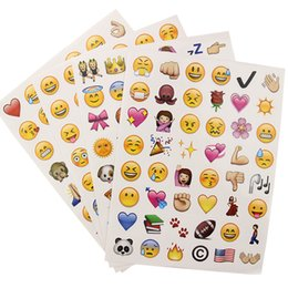 emoji stationery UK - 1 Set 192 Emoji Smile Face Diary Adhesive Stickers DIY Scrapbooking Stationery Sticker Stationery New School Supplies