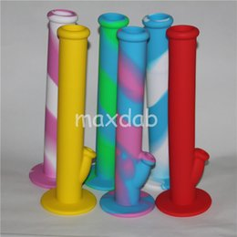 water pipe free shipping NZ - wholesale New Arrival Mini Silicone Drum Water Pipe glass bongs glass water pipe ten colors for choice DHL free shipping