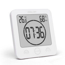 Chinese  New Digital Waterproof Shower Wall Stand Clock Humidity Temperature Timer manufacturers