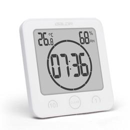 Nuevo Digital Impermeable Ducha Soporte de pared Reloj Reloj Humedad Temperatura Temporizador