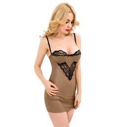 Chinese  Wholesale- 5XL Plus Size Exotic Nightdress Ladies Babydoll Lingerie Sexy Nightgowns Women Sleepwear Steel Support Sling Summer Sleep Dress manufacturers