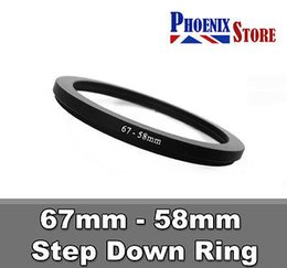 $enCountryForm.capitalKeyWord Australia - Wholesale- 67mm-58mm 67-58 67 to 58 mm lens Step Up Filter Ring Stepping Adapter Adaptor Black