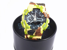 Watch gift boxes display online shopping - 2016 with box new CAMO dual display relogio men s sports watches LED chronograph wristwatch military watch digital watch good gift men boy