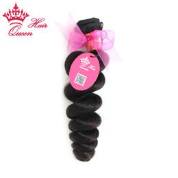 """queen hair virgin brazilian loose 2019 - Queen Hair 100% Brazilian Virgin Loose Wave virgin hair extensions Queen hair 8""""-28"""" 1pc color #1B DHL Free Sh"""
