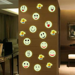 $enCountryForm.capitalKeyWord Canada - Trumpet can remove cartoon smiley night light wall stickers bedroom bedside decorative stickers free shipping