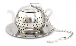 Chinese  Free Shipping 50 pcs Stainless Steel Teapot Shape Tea Infuser for Loose Tea manufacturers