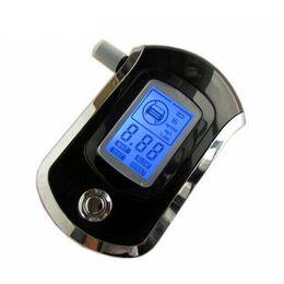 Опт Wholesale-Alcohol tester breathalyzer digital breath blow analyzer professional AT6000 portable alcohol testing BAC content