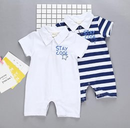Off Boy Canada - 50% off boys and girls rompers newborn Hot design in USA 100% cotton stripe design white star polo rompers hot designs