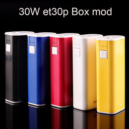 mod original e cigarette NZ - 100% Original ECT eT30P E Cigarette Battery 2200mah TC Box Mod 30W fit 510 Thread Atomizer VS Innokin pico mod