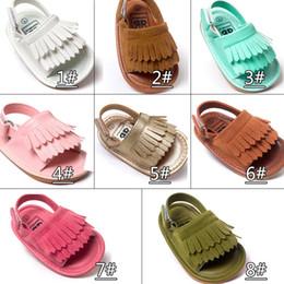 Discount summer sandals new design - Summer baby moccasins Tassels kids baby shoes kids sandals first walker shoes boys girls shoes 2017 new designed Multy C