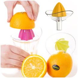 Kitchen Fruit Canada - New Fruit Vegetable Tools Plastic Hand Manual Orange Juicer Kitchen Gadgets Mini Juice Lemon Squeezer Reamer Kitchen Accessories
