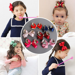 Ribbons For Hair Canada - 2017 New Girl Hair Bows Ribbon Hair Clips Barrettes Kids Girls Holiday Gift For Children Hair Accessory 24pcs lot