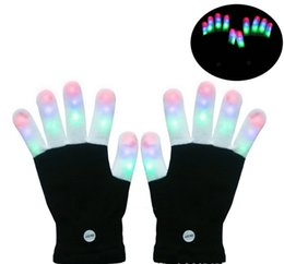 Back To Search Resultsapparel Accessories Led Rave Flashing Glove 1 Piece Glow 7 Mode Light Up Finger Tip Lighting Black Vd New Hot Glove Girl's Gloves