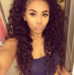 Discount deep wave hairstyles for short hair 2017 deep wave indian virgin hair deep wave full lace wigs with baby hair 130 density lace front human hair wig for black women fdshine urmus Gallery