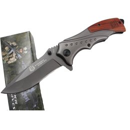 army knifes UK - Camping Hunting Swiss Army folding Exquisite Knife with Mahogany Handle