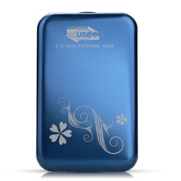 """external hard drive enclosure case 2019 - Wholesale- 2.5"""" SATA External Hard Drive Enclosure Housing Case Hard for USB 3.0 Blue cheap external hard drive enc"""