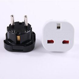 pin walls 2019 - UK TO EU EUROPE EUROPEAN UNiVERSAL TRAVEL CHARGER ADAPTER PLUG CONVERTER 2 PiN Wall Plug Socket black white DHL free shi