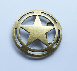 Star Belts Australia - Bronze Star belt buckle SW-BY590 suitable for 4cm wideth snap on belt with continous stock