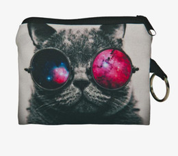 $enCountryForm.capitalKeyWord Canada - Girl printing coins change purse 3D Cats Dogs Animal Big Face Change Fashion Cute SmallClutch zipper zero wallet phone key bag