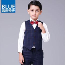 30d3c1d5e775b CHENLVXIE Boys Summer Set 4pieces Baby Boy Suit Kids Clothes 2017 Child  Plaid Shirt Jeans Bow Pants Plaid Children Clothing
