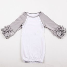 Chinese  18colors Infant sleep cloth Baby girl boy Cotton Gowns Ruffle Reglan Gown Long Sleeve sleep bag for 0-2T manufacturers