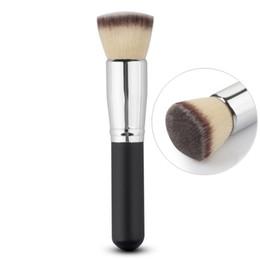 Flawless Brush UK - Wholesale- NEW Professional Makeup Brush Soft Flat Top Foundation Liquid Cream Powder Blending Flawless Brush Cosmetic Beauty Tool