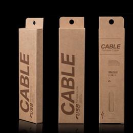 153 * 40 * 15mm Novo Pacote de Caixa De Embalagem de Varejo De Papel Kraft Para iPhone4 4S 5 5S 5C Galaxy S5 S4 mini cabo do telefone móvel usb, 1000 pcs