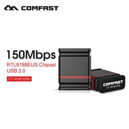 Comfast Wifi Usb Adapter Canada - Wholesale- Usb wifi wireless adapter Laptop ethernet adapter 150mbps wireless adapter usb network card wireless dongle COMFAST CF-WU810N-1
