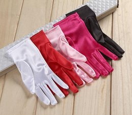 $enCountryForm.capitalKeyWord Australia - 22cm bride wedding dress short paragraph satin gloves stage performance refers to the short section of the banquet banquet multi-color optio