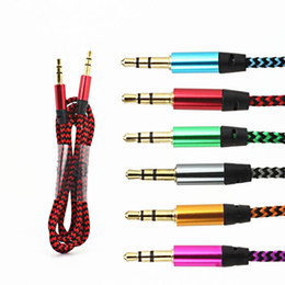$enCountryForm.capitalKeyWord NZ - Car Audio AUX Extention Cable Nylon Braided 3ft 1M wired Auxiliary Stereo Jack 3.5mm Male Lead for Mobile Phone ,computer , Speaker
