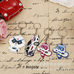 Green Plastic Wood Canada - Manufacturer of professional custom production cartoon soft silicone rubber key chain wholesale PVC plastic key pendant accessories
