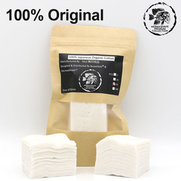Organic Cotton For Wicks Australia - Wholesale- 20pcs Pack Muji Cotton 100% Original Japanese Organic Cotton Huge Vapor Wick No Bleach Healthy Cotton for RDA RTA Tank Coil