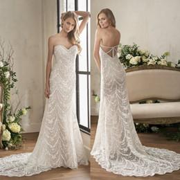 Discount jasmine garden - Jasmine 2018 Full Lace Mermaid Wedding Dresses Sweetheart Vestido De Novia Backless Bridal Gowns Plus Size Trumpet Weddi