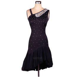 Latin Salsa Dance Dresses Canada - Latin Dance Dress Women Girls Latin Salsa Dance Competition Dresses Samba Costumes Tango Ballroom D0004 Rhinestones 8 Colors